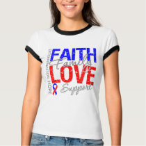 Faith Family Collage Pulmonary Fibrosis T-Shirt