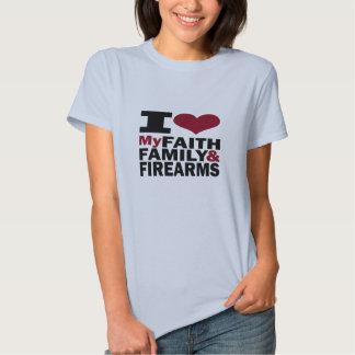 Faith, Family & Firearms T Shirts