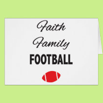 Faith Family Football For Fans Card