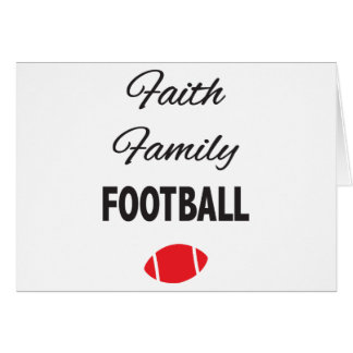 Faith Family Football For Fans Card