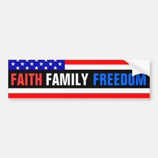 Faith, Family, Freedom Bumper Sticker