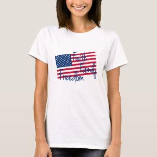 Faith Family Freedom US Flag T-Shirt