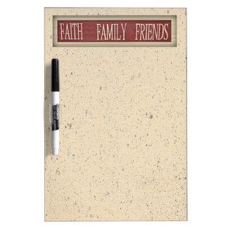 Faith Family Friends Dry Erase Board