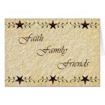 Faith Family Friends Note Card