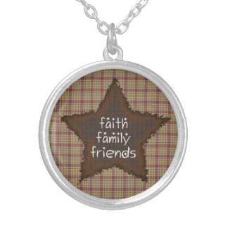 Faith Family Friends Rusty Star Necklace