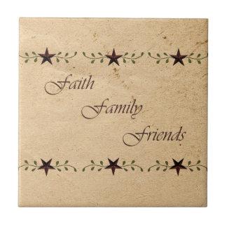 Faith Family Friends Star Tile
