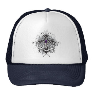 Faith Family Prayer Cross - Crohn's Disease Trucker Hat