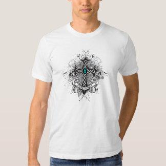 Faith Family Prayer Cross - Gynecologic Cancer Shirts