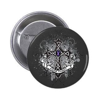 Faith Family Prayer Cross - Hodgkin's Lymphoma Pinback Button