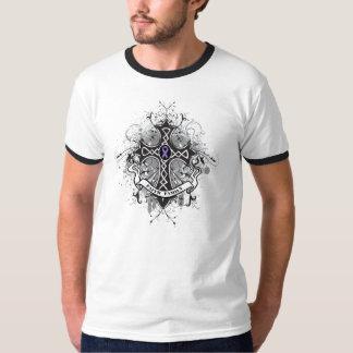 Faith Family Prayer Cross - Hodgkin's Lymphoma T Shirt