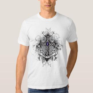 Faith Family Prayer Cross - Hodgkin's Lymphoma Tee Shirts