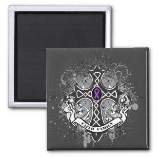 Faith Family Prayer Cross - Leiomyosarcoma 2 Inch Square Magnet