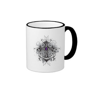 Faith Family Prayer Cross - Leiomyosarcoma Ringer Coffee Mug