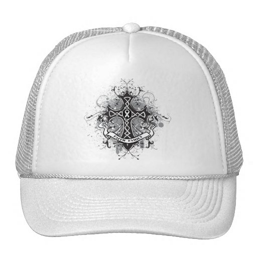 Faith Family Prayer Cross - Lung Cancer Trucker Hat