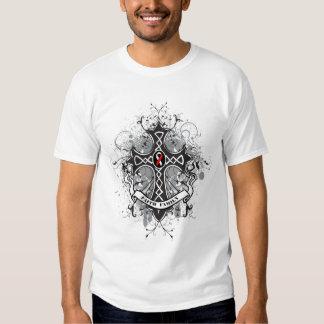 Faith Family Prayer Cross - Oral Cancer Tee Shirt