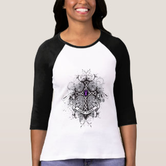 Faith Family Prayer Cross - Pancreatic Cancer T-shirt