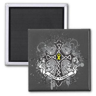 Faith Family Prayer Cross - Sarcoma 2 Inch Square Magnet