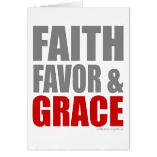 FAITH FAVOR & GRACE CARD