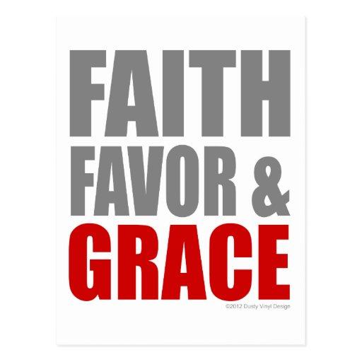 FAITH FAVOR & GRACE POSTCARD