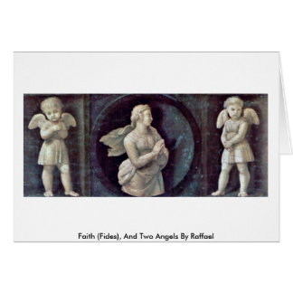 Faith (Fides), And Two Angels By Raffael Greeting Card