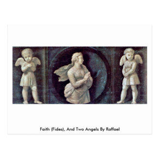 Faith (Fides), And Two Angels By Raffael Postcard