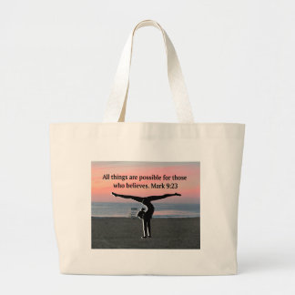 FAITH FILLED GYMNAST LARGE TOTE BAG