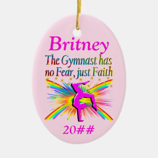 FAITH FILLED GYMNAST PERSONALIZED ORNAMENT