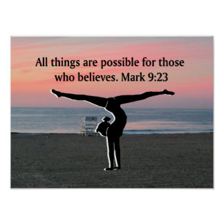 FAITH FILLED GYMNAST POSTER