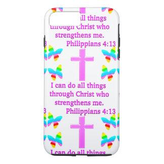 FAITH FILLED PHILIPPIANS 4:13 DESIGN iPhone 7 PLUS CASE