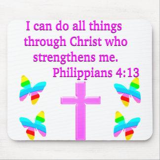 FAITH FILLED PHILIPPIANS 4:13 DESIGN MOUSE PAD