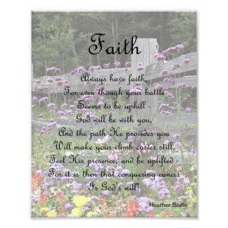 Faith Flowers - Conquer Cancer Photo Print