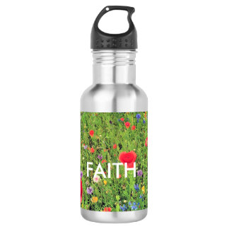 Faith Flowers Custom Water BottleStainless Steel Water Bottle