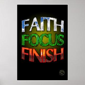 Faith Focus Finish Poster