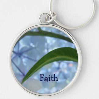 Faith gifts keychains Blue Hydrangea Flowers
