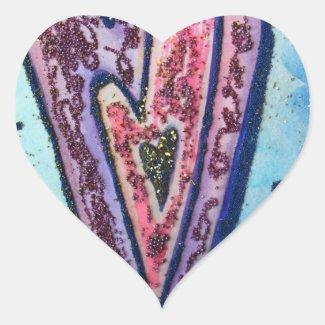 Faith Glitter Hearts Love Labels Art Stickers