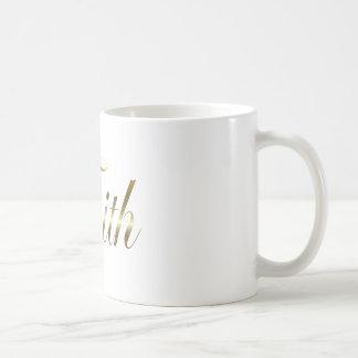 Faith gold tone coffee mug