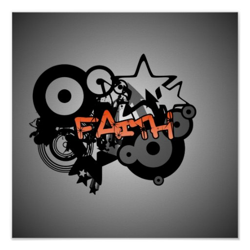 FAITH Graffiti Art Poster