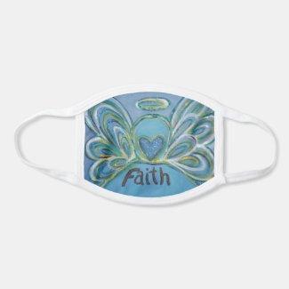Faith Guardian Angel Art Custom Face Mask