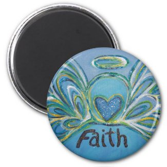 Faith Guardian Angel Word Custom Magnet
