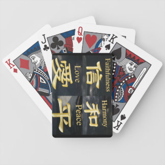 Faith Harmony Love and Peace Bicycle Playing Cards
