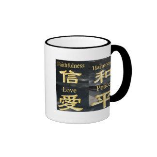 Faith Harmony Love and Peace Coffee Mugs