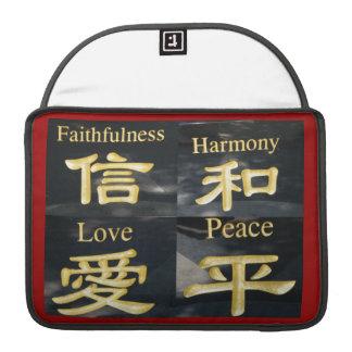 Faith Harmony Love and Peace Sleeve For MacBook Pro