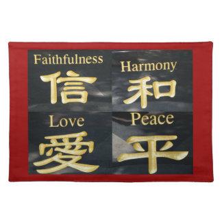 Faith Harmony Love and Peace Place Mat