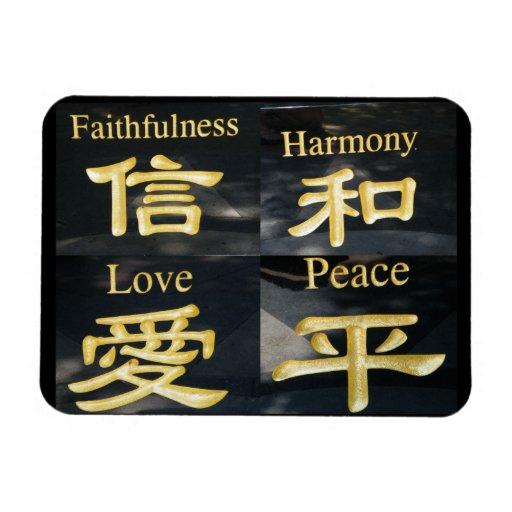 Faith Harmony Love and Peace Rectangular Photo Magnet