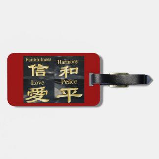Faith Harmony Love and Peace Tags For Luggage
