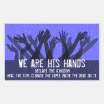 Faith.Healing.Heal the Sick.Spirit Filled.Anointed Rectangular Sticker