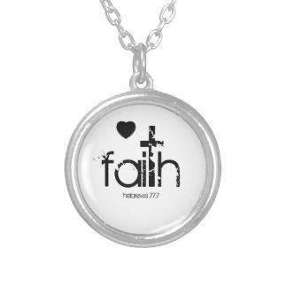 faith heart cross Necklace