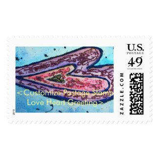 Faith Hearts Art Custom Postage Stamps