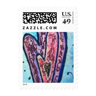 Faith Hearts Art Customized Postage Stamp