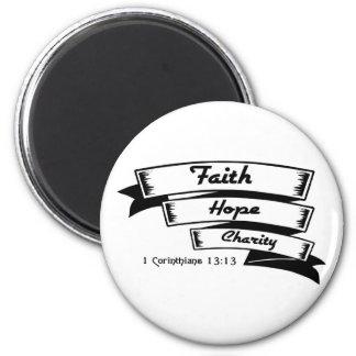 Faith hope and charity Christian design Magnet